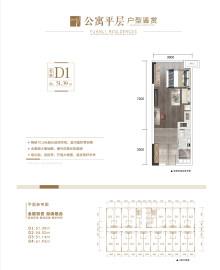 公寓6栋D1户型