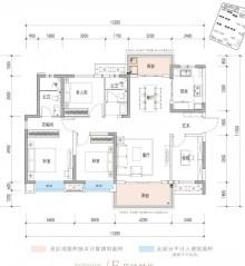 E户型, 4室2厅2卫1厨, 建筑面积约139.00平米