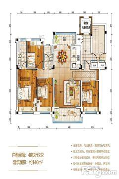 (武陵区)常德碧桂园4室2厅2卫110万141m²出售